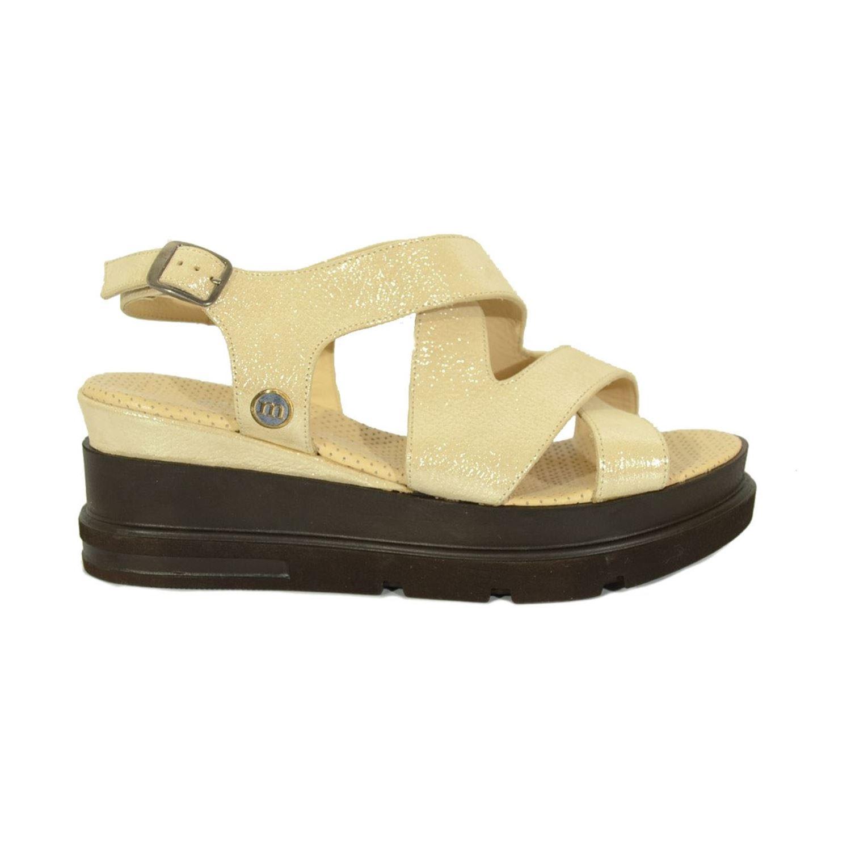 Mammamia 1145 Kadın Deri Sandalet