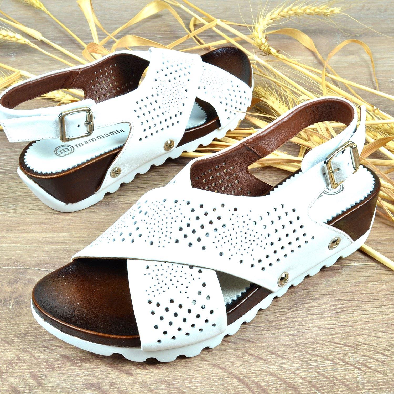 Beyaz Kadın Deri Sandalet
