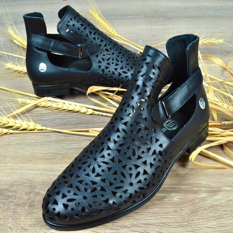Siyah Kadın Deri Sandalet 3330