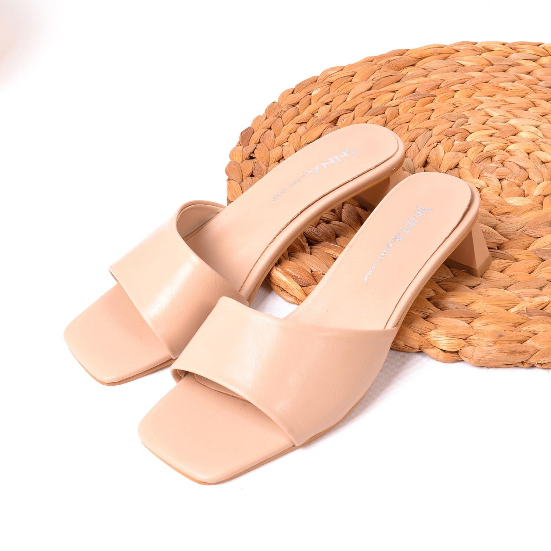Nut Kısa Topuklu Kadın Terlik