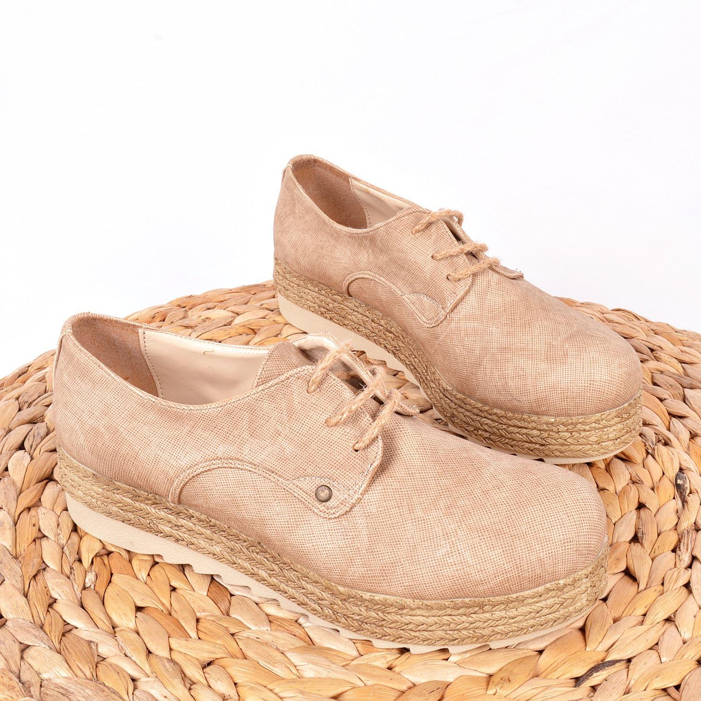 Bej Kalın Taban Kadın Sneaker 1963