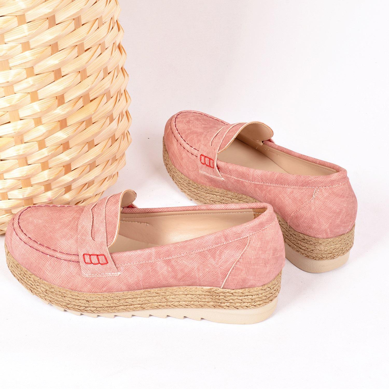Pudra Kalın Taban Kadın Sneaker 161
