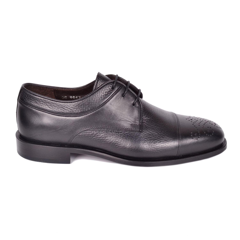 Siyah Kösele Erkek Deri Klasik Ayakkabı 9643