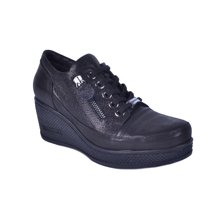 Siyah Kadın Dolgu Topuk Ayakkabı 625