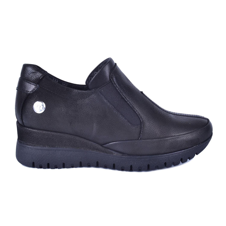Siyah Kadın Dolgu Topuk Deri Ayakkabı 355