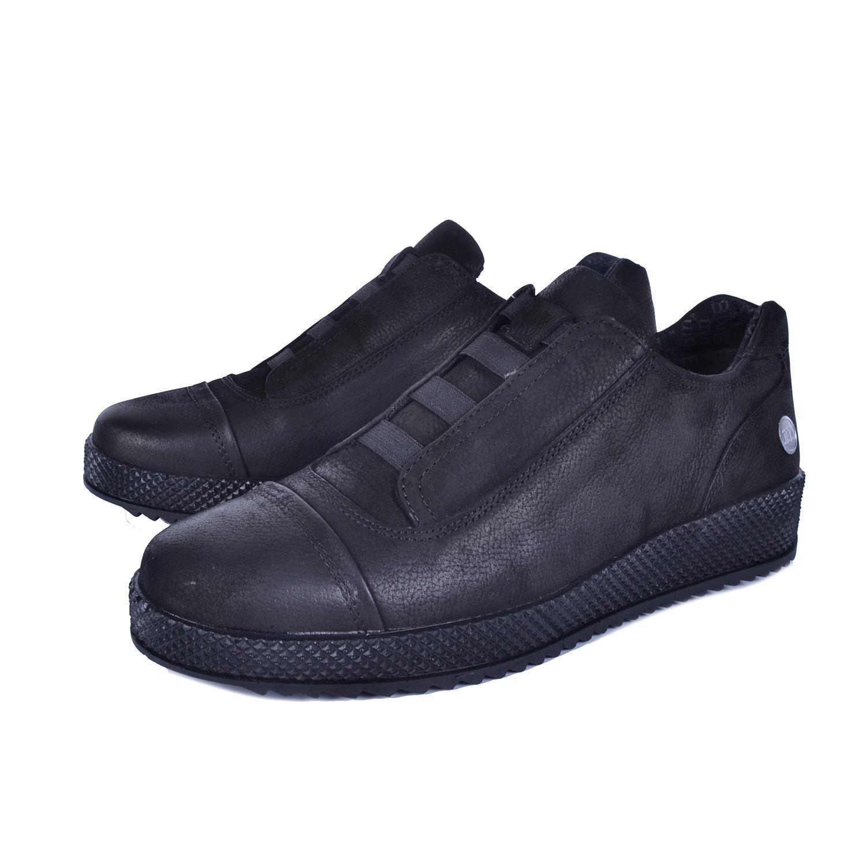 Siyah Kadın Günlük Deri Ayakkabı 785