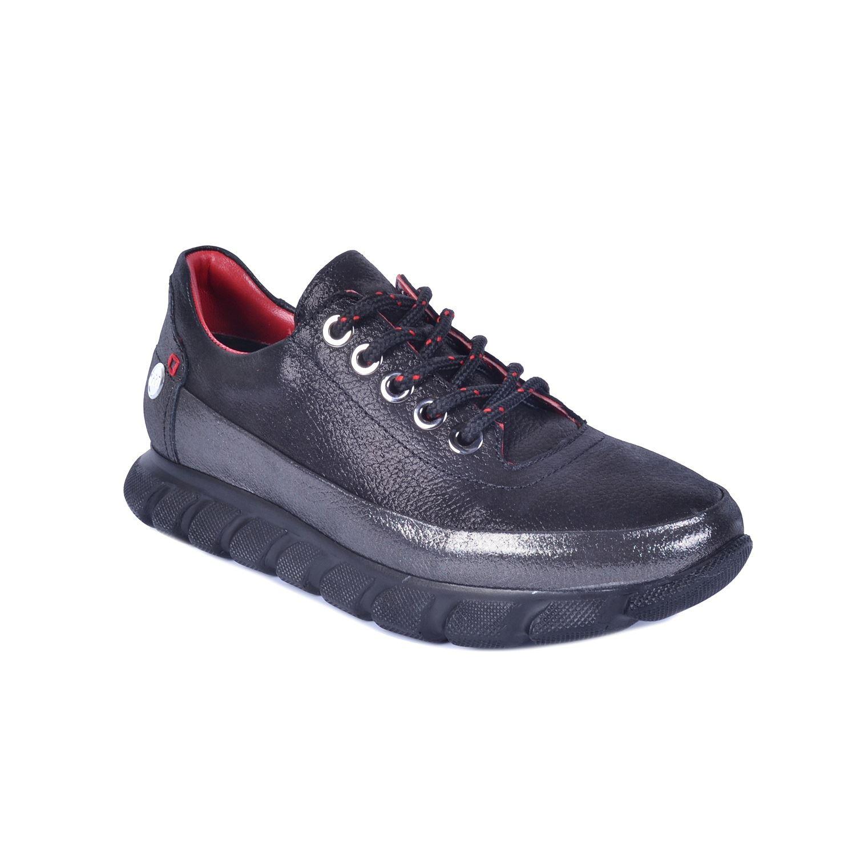 Siyah Kadın Günlük Deri Ayakkabı 470