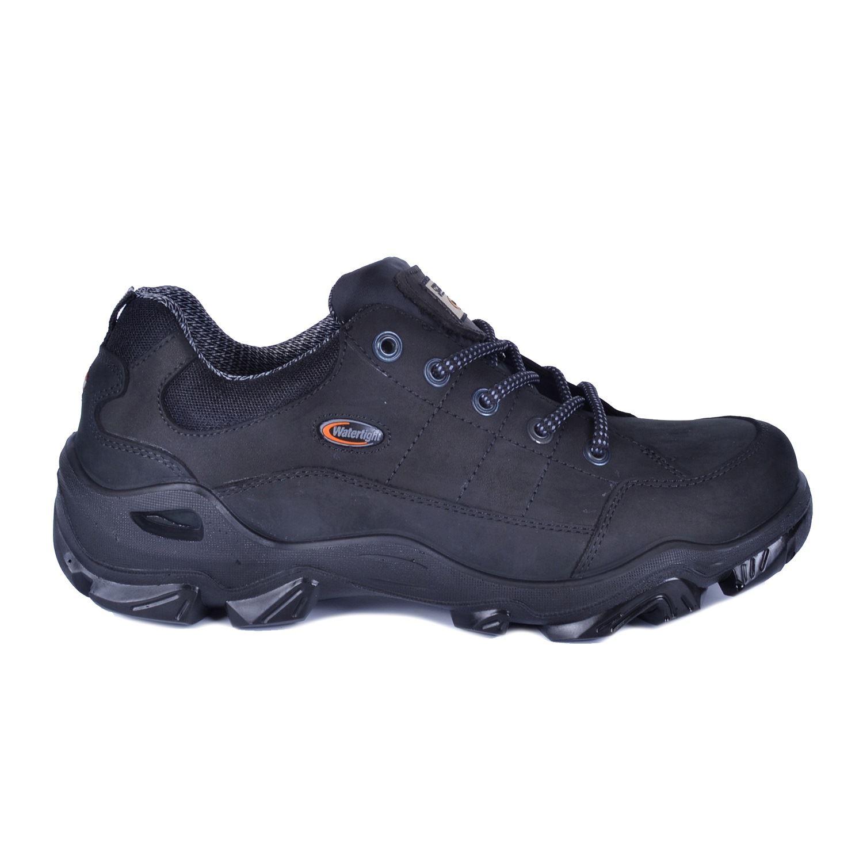Siyah Büyük Numara Erkek Su Geçirmez Deri Ayakkabı 1646