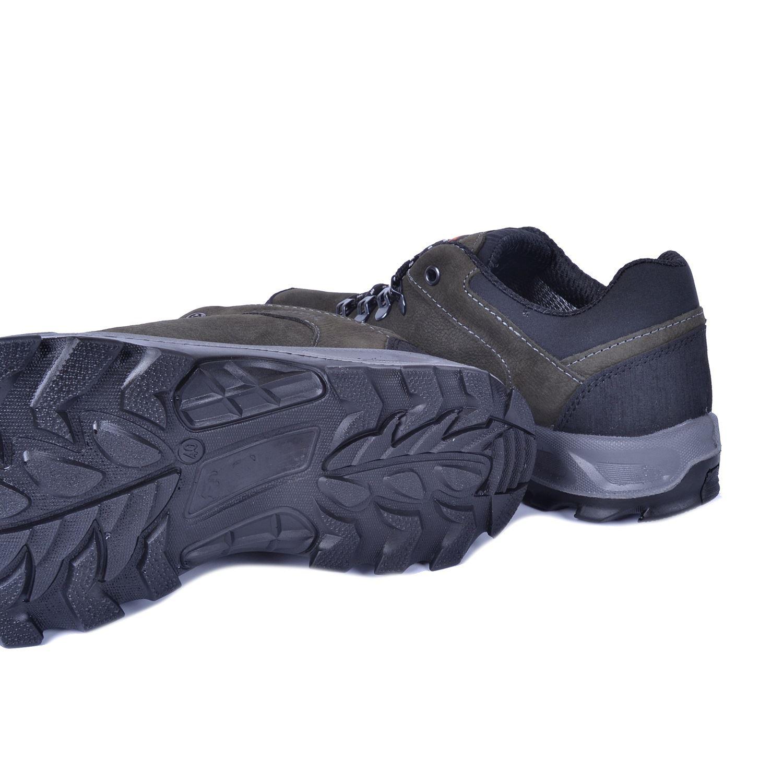 Gri Erkek Su Geçirmez Deri Ayakkabı 5544