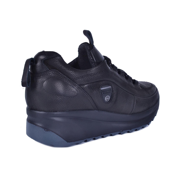 Siyah Kadın Dolgu Topuk Deri Ayakkabı 400