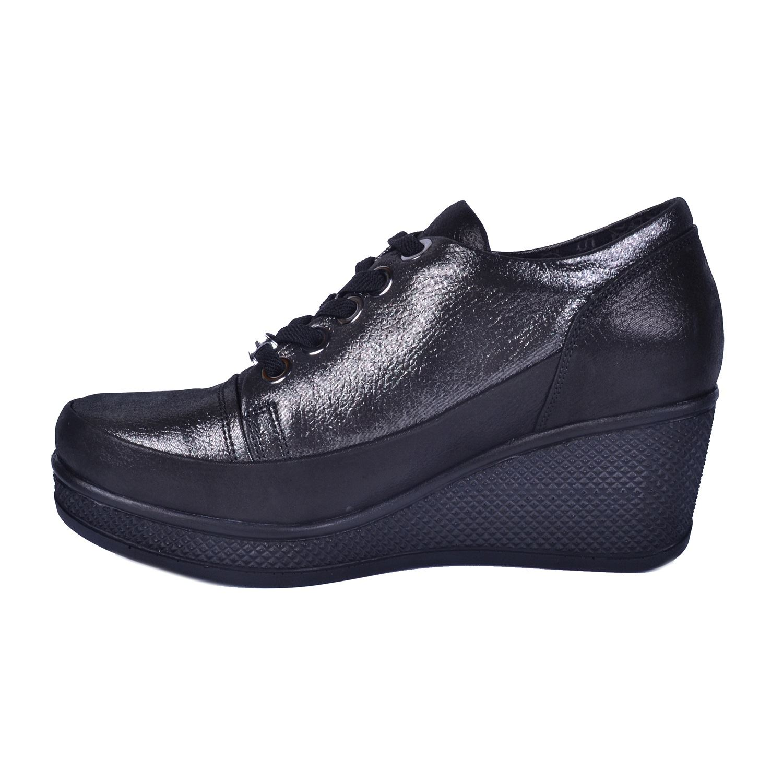 Gri Kadın Dolgu Topuk Ayakkabı 625