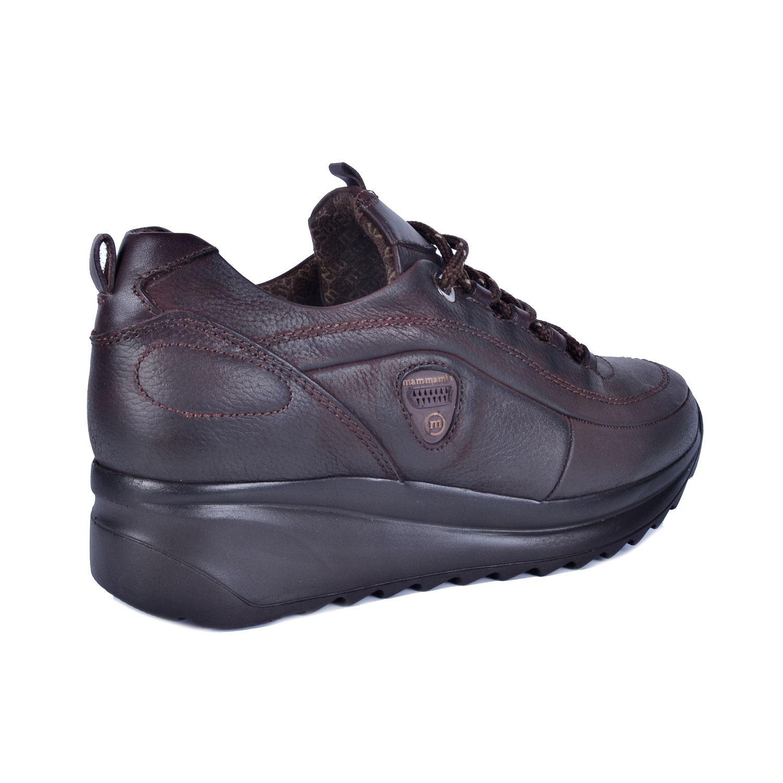 Kahve Kadın Dolgu Topuk Deri Ayakkabı 400