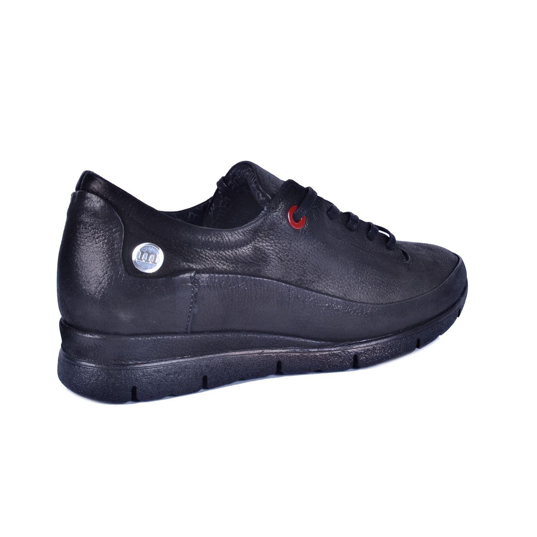 Siyah Kadın Günlük Deri Ayakkabı 730