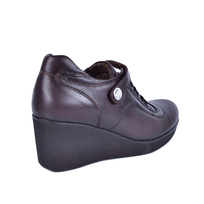 Kahve Kadın Dolgu Topuk Deri Ayakkabı 535