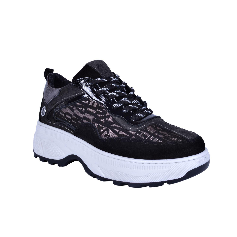 Siyah Kadın Günlük Deri Ayakkabı 4397