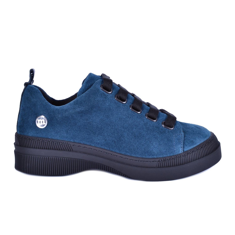 Mavi Kadın Günlük Deri Ayakkabı 3170
