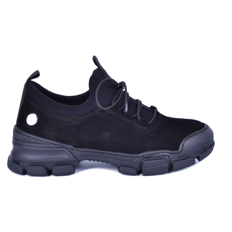 Siyah Kadın Günlük Deri Ayakkabı 3175