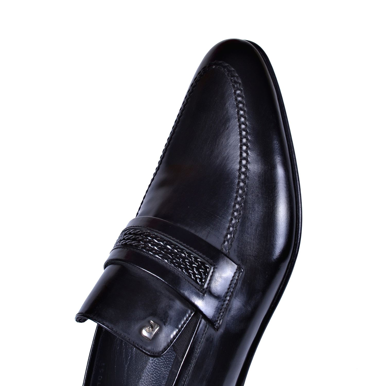 Pierre Cardin Siyah Deri Kösele Ayakkabı 3633