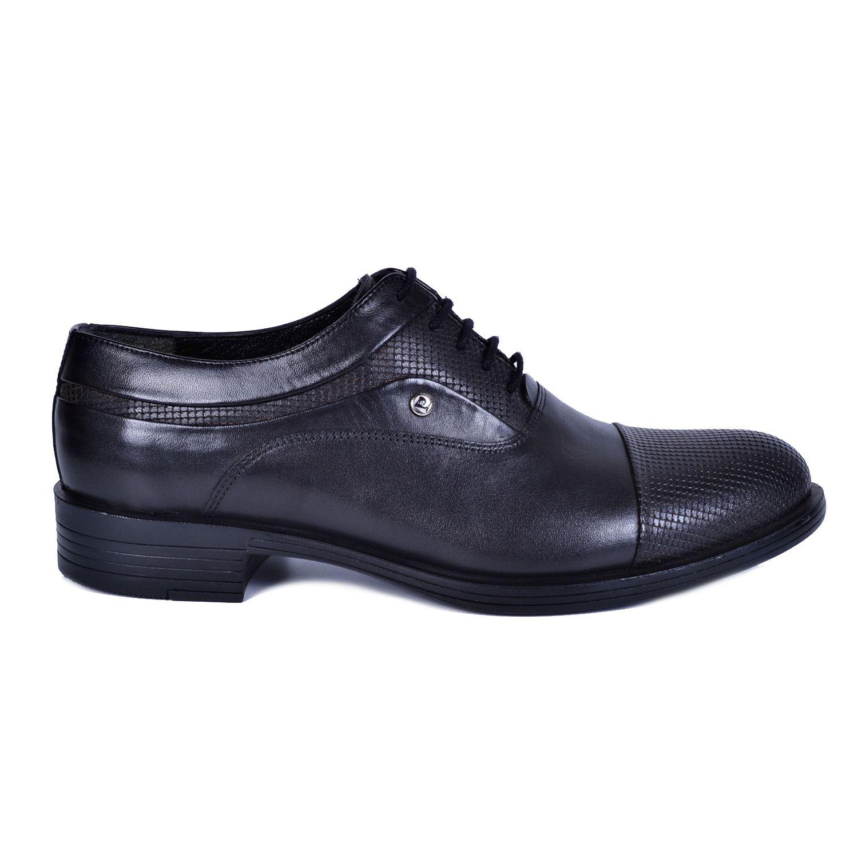 Pierre Cardin Siyah Deri Ayakkabı 7003