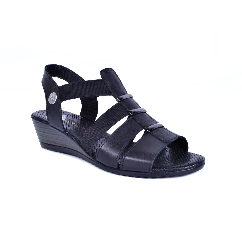 Siyah Kadın Deri Sandalet 1045