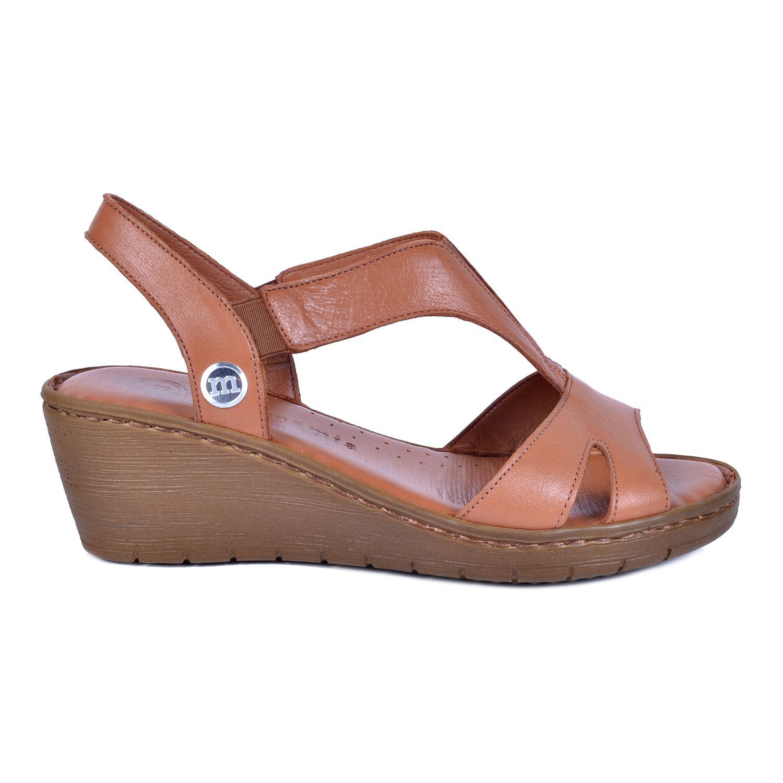 Taba Kadın Deri Taba Sandalet 1290