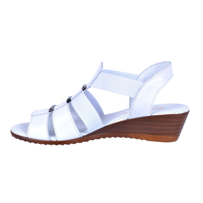 Beyaz Kadın Deri Sandalet 1045