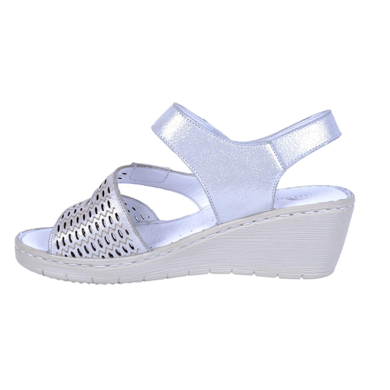 Beyaz Kadın Deri Sandalet 1295
