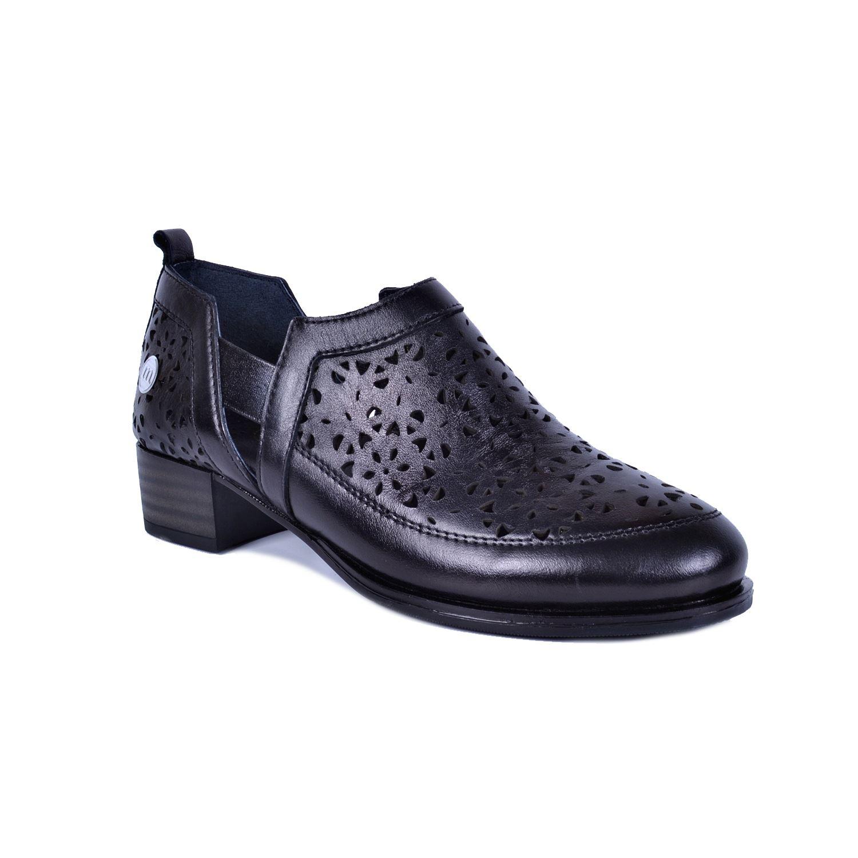 Siyah Kadın Deri Ayakkabı 455