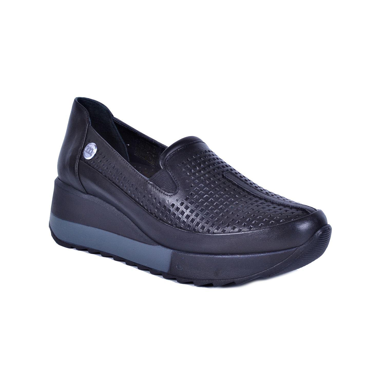 Siyah Kadın Deri Ayakkabı 350