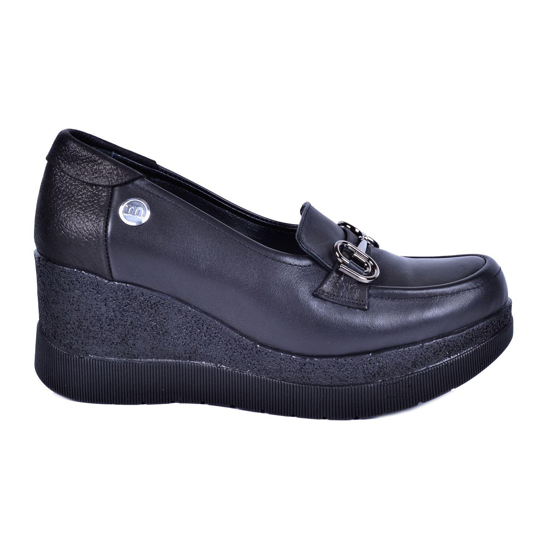 Siyah Kadın Deri Ayakkabı 3325
