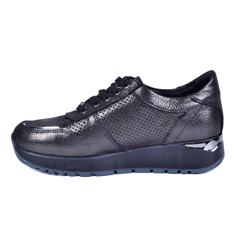Gri Kadın Deri Ayakkabı 3270