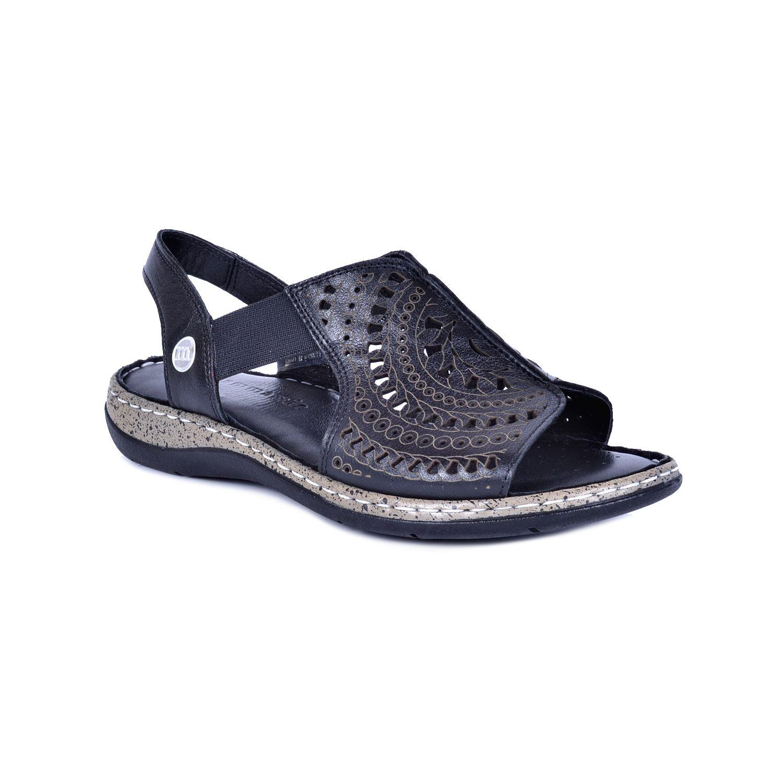 Siyah Kadın Deri Sandalet 1380