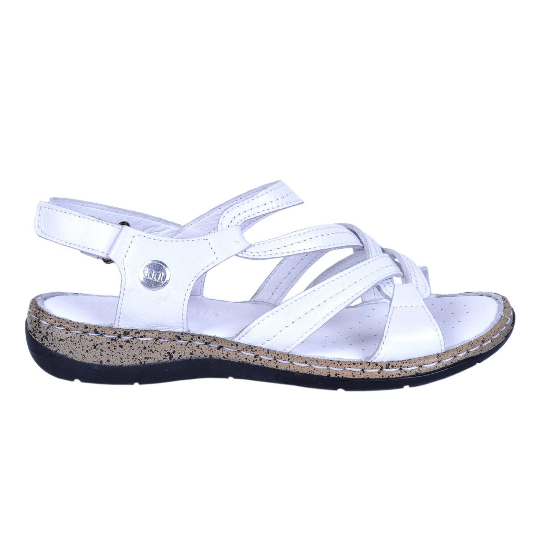 Beyaz Kadın Deri Sandalet 1385