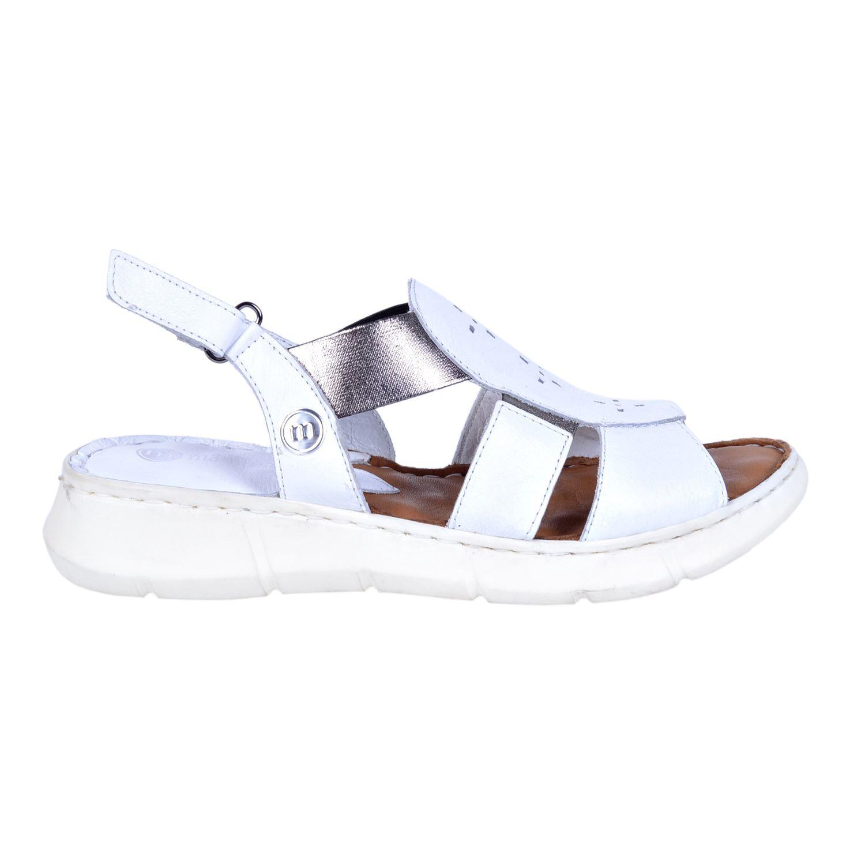 Beyaz Kadın Deri Sandalet 1330