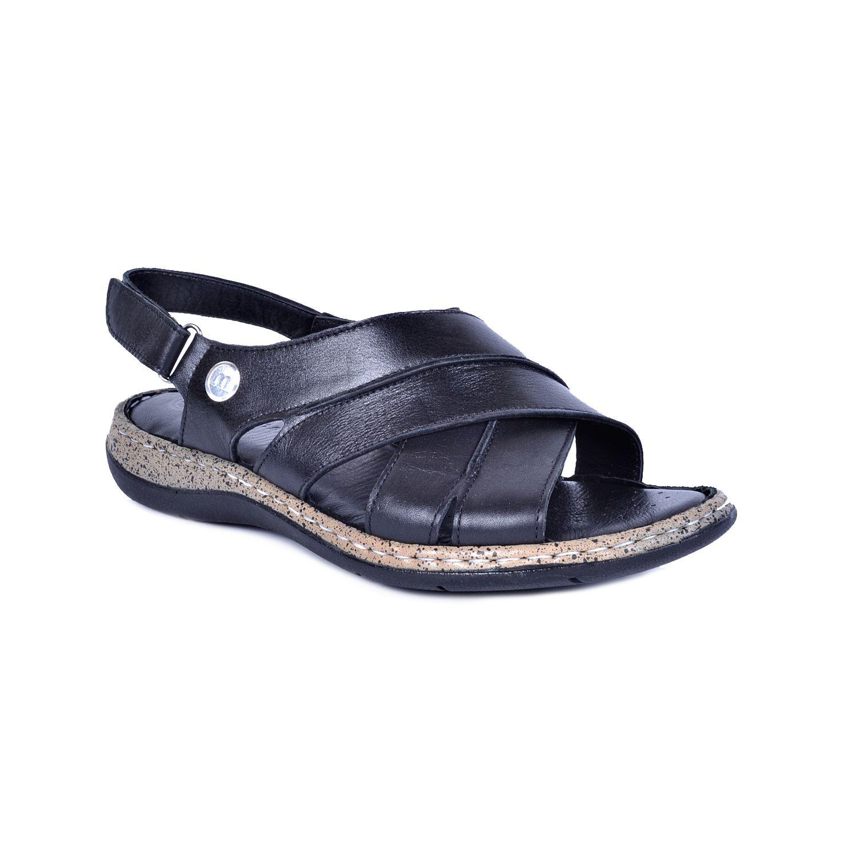 Siyah Kadın Deri Sandalet 1370