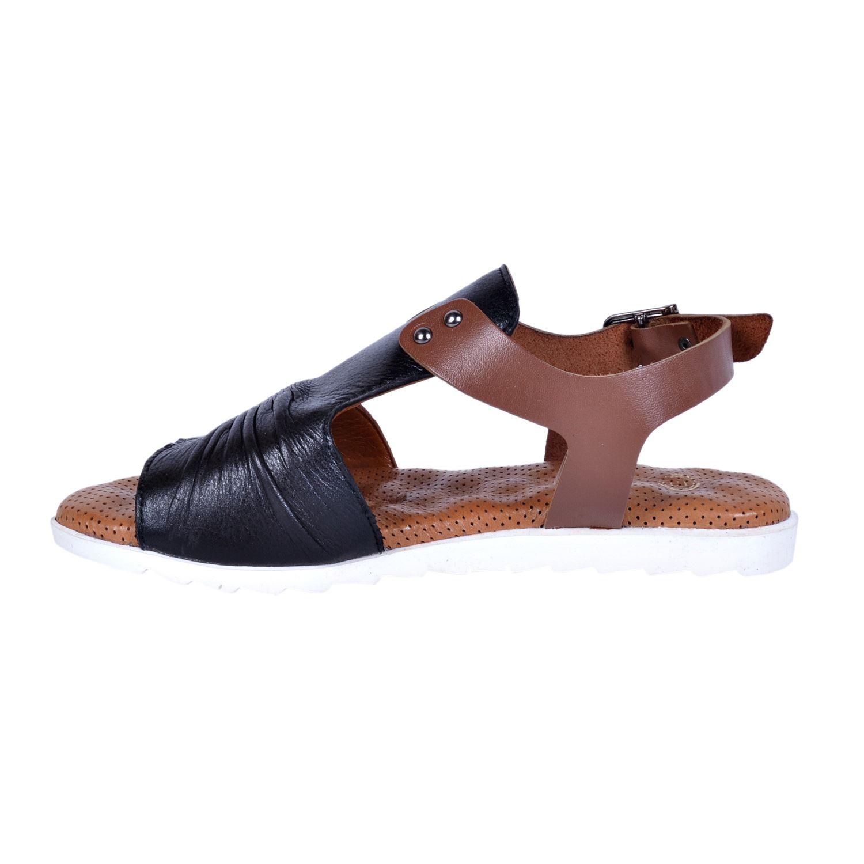 Siyah Kadın Deri Sandalet 1210