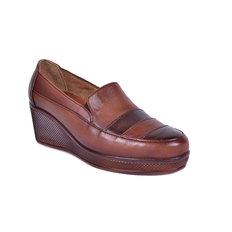 Taba Kadın Deri Ayakkabı 2020