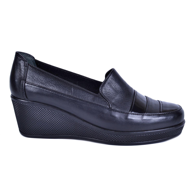 Siyah Kadın Deri Ayakkabı 2020
