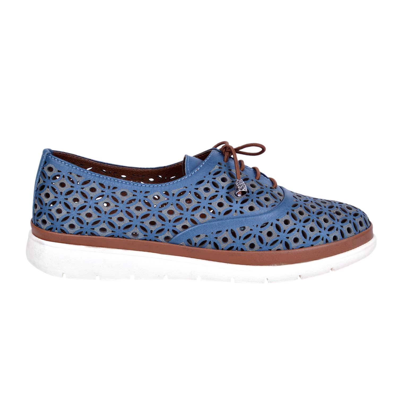 Mavi Kadın Deri Ayakkabı 8102