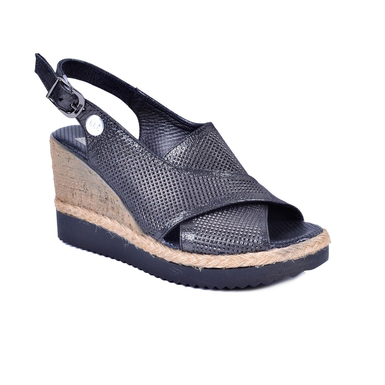 Mammamia 1260 Gri Kadın Deri Sandalet