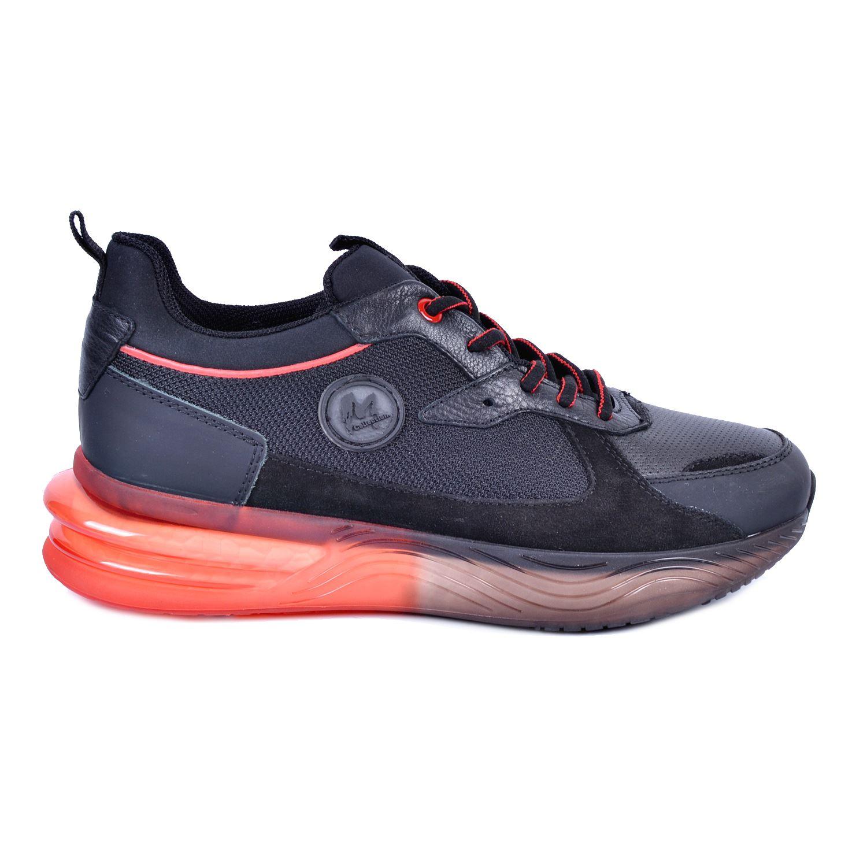 Marcomen 18100 Siyah Erkek Deri Ayakkabı