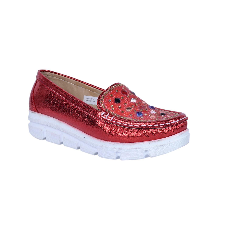 Kırmızı Kız Çocuk Babet 634055