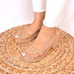 Hasır Topuklu Kadın Sandalet