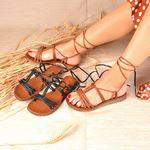 Taba Bağlamalı Kadın Sandalet